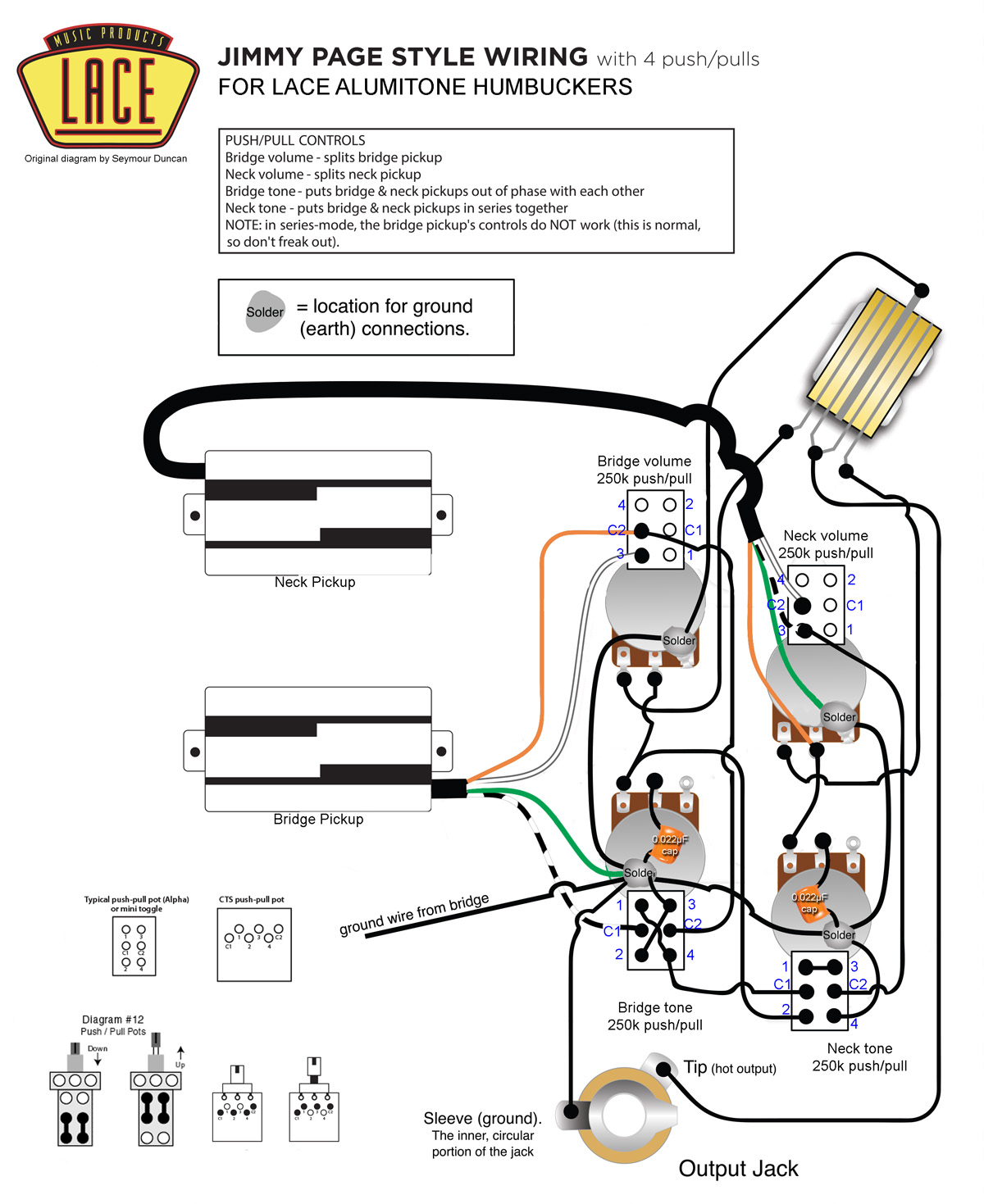 Lace Humbucker Wiring Diagram Just Wirings 2 Wire Jimmy Page With Alumitone Pickups My Les Paul Forum Rh Mylespaul Com Double